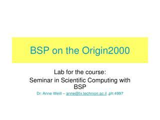 BSP on the Origin2000