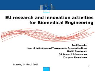 EU research and innovation activities for Biomedical Engineering