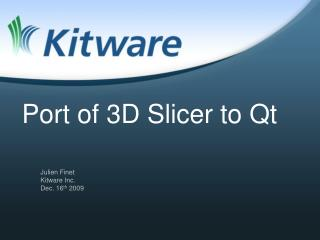 Port of 3D Slicer to Qt