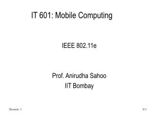 IT 601: Mobile Computing