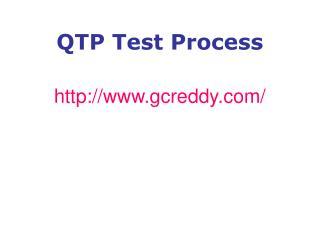 QTP Test Process
