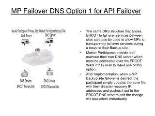 MP Failover DNS Option 1 for API Failover