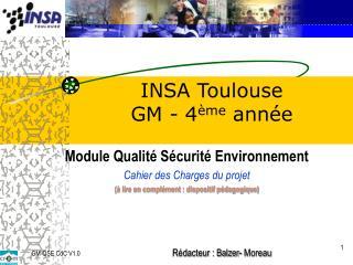 INSA  Toulouse  GM - 4 ème  année