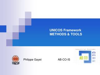UNICOS Framework   METHODS & TOOLS