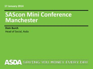 SAScon Mini Conference Manchester