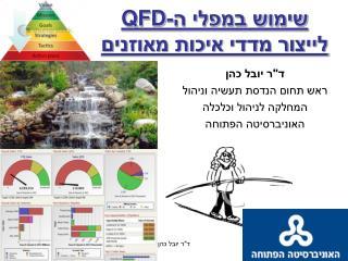 שימוש במפלי ה- QFD לייצור מדדי איכות מאוזנים