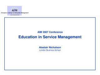 Education in Service Management
