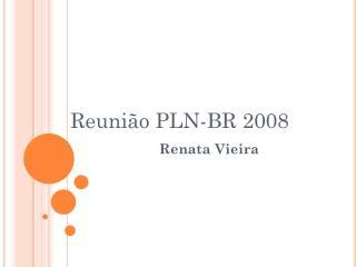 Reunião PLN-BR 2008