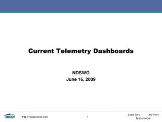 Current Telemetry Dashboards