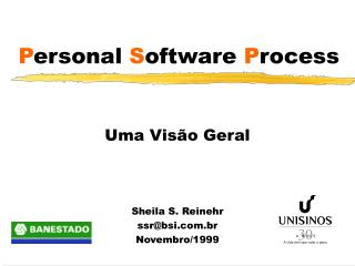 P ersonal  S oftware P rocess