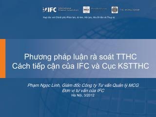 Phương pháp luận rà soát TTHC Cách tiếp cận của IFC và Cục KSTTHC