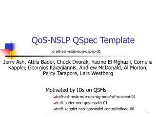 QoS-NSLP QSpec Template