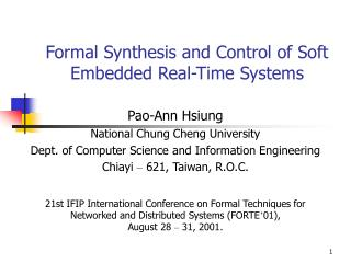 Formal Synthesis and Control of Soft Embedded Real-Time Systems