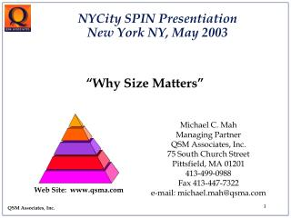 """""""Why Size Matters"""""""