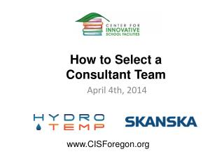 How to Select a Consultant Team