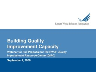 Building Quality Improvement Capacity