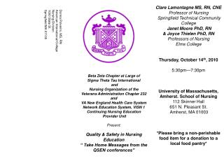 Beta Zeta Chapter at Large of Sigma Theta Tau International  and Nursing Organization of the