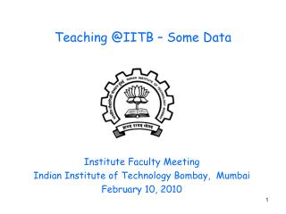 Teaching @IITB – Some Data