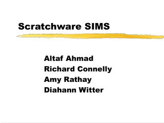 Scratchware SIMS