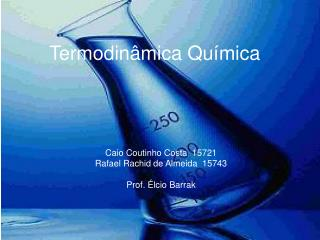 Termodinâmica Química