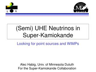 (Semi) UHE Neutrinos in Super-Kamiokande
