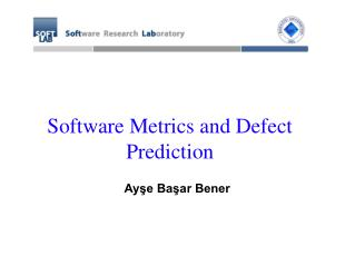 Software Metrics and Defect Prediction