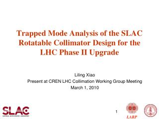 Trapped Mode Analysis of the SLAC Rotatable Collimator Design for the LHC Phase II Upgrade