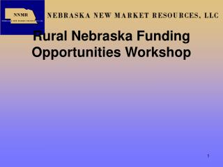 Rural Nebraska Funding Opportunities Workshop