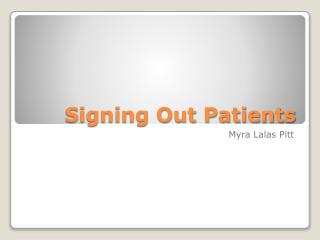 Signing Out Patients