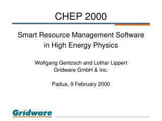 CHEP 2000