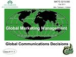 Global Marketing Management    Global Communications Decisions