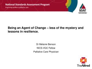 Being an Agent of Change – less of the mystery and lessons in resilience.