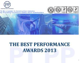 THE BEST PERFORMANCE  AWARDS 2013