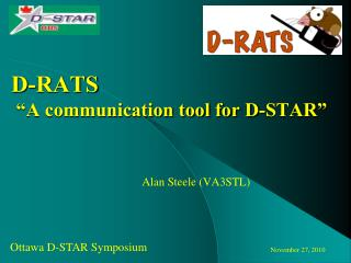 "D-RATS  ""A communication tool for D-STAR"""