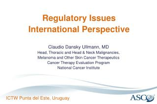 Regulatory Issues International Perspective