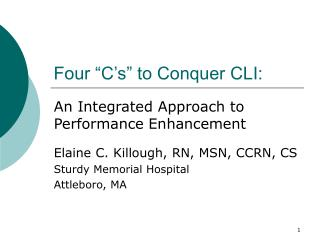 "Four ""C's"" to Conquer CLI:"