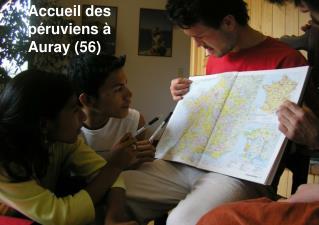 Accueil des péruviens à Auray (56)