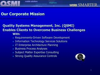Our Corporate Mission