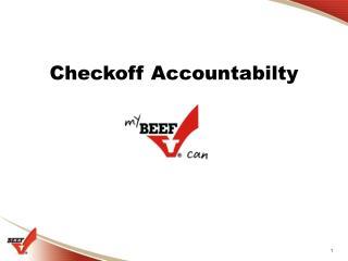 Checkoff Accountabilty