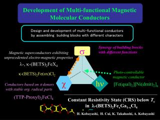 Design and development of multi-functional conductors