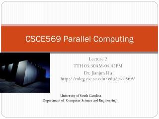 CSCE569 Parallel Computing