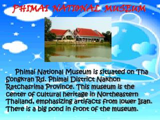 PHIMAI  NATIONAL  MUSEUM