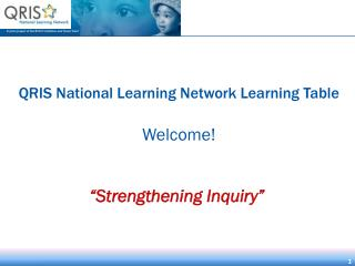 QRIS National Learning Network Learning Table Welcome!