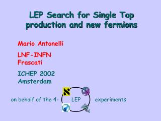 LEP Search for Single Top production and new fermions