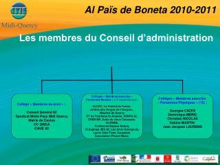 Al Païs de Boneta 2010-2011