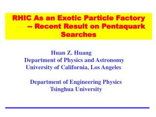 RHIC As an Exotic Particle Factory  -- Recent Result on Pentaquark Searches