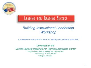Developed by the Central Regional Reading First Technical Assistance Center