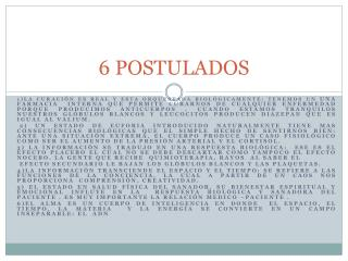 6 POSTULADOS