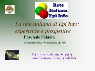 La rete italiana di Epi Info: esperienze e prospettive