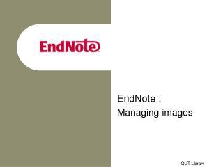 EndNote :  Managing images